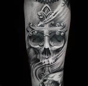 50 badass cross tattoos for men manly design ideas