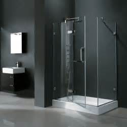 vg6011 32 x 48 frameless rectangular shower enclosure