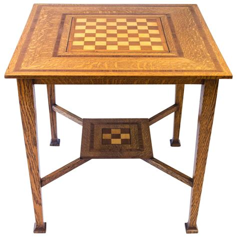 chess tables for sale craigslist arts and crafts oak chess table at 1stdibs