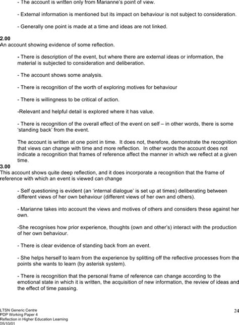 reflection paper template reflection paper template for free page 24