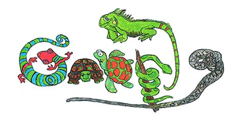 doodle 4 form doodle4google contest entry features a reptile lover s