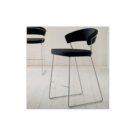sgabello pelle sgabello new york calligaris connubia in pelle cb1087 lh