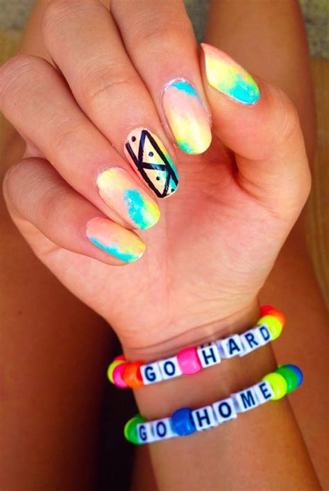 neon pattern nails 45 spectacular neon nail designs for 2017