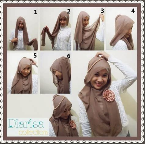 gambar tutorial berhijab yang simpel tutorial hijab paris simpel tapi cantik 2015