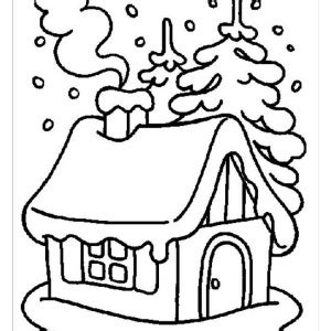 coloring pages of winter houses puppy in snow coloring page winter houses pages grig3 org
