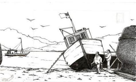 dessin bateau encre de chine chantier naval furia sangre