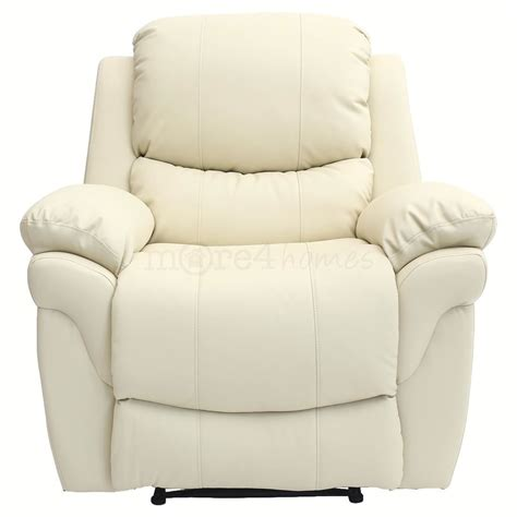 cream leather reclining sofa madison cream real leather recliner armchair sofa home