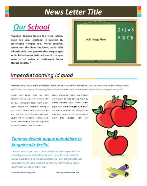 6 school newsletter templates free word pdf format
