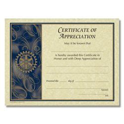 rotary certificate of appreciation template rotary customized certificate of appreciation rotary