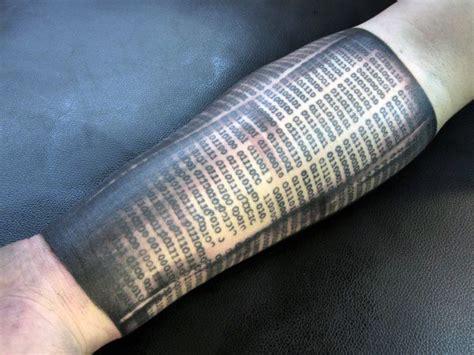 binary code tattoo 30 binary designs for coded ink ideas
