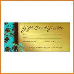 Salon Gift Certificate Template Free by Salon Gift Certificate Template Authorization Letter Pdf