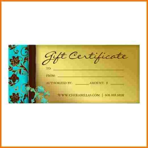 free salon gift certificate template salon gift certificate template authorization letter pdf