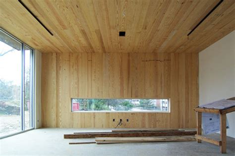 wood ceiling and walls are in berlin opsal residence