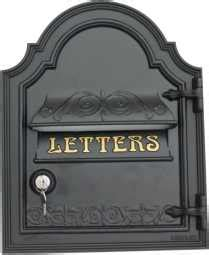 Post Box For Front Door Postbox With Front Opening Door By Lumley Designs Cast Iron Postboxes