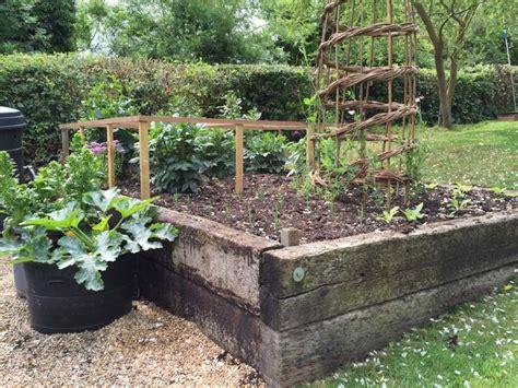 raised garden beds railroad ties my garden pinterest gardens raised garden beds and beds