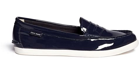 cole haan patent leather loafers cole haan pinch lte patent leather weekender loafers in