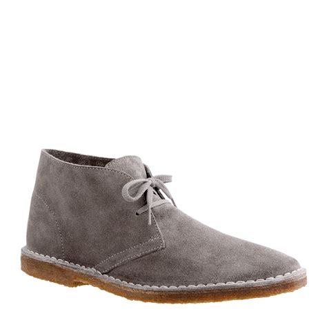 jcrew slippers j crew classic macalister boots in suede in gray for