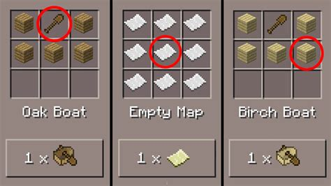 minecraft boat recipe minecraft pe 5 crafting recipes only in pocket edition