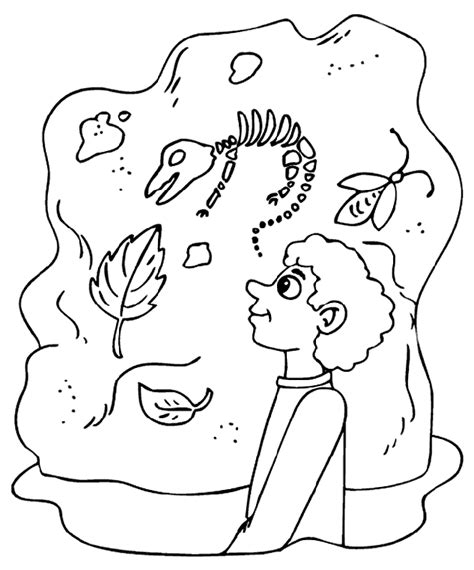 coloring pages of dinosaur fossils dinosaur bones coloring pages coloring home