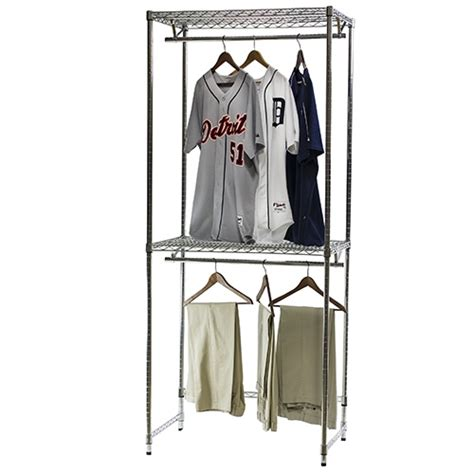 Free Standing Wire Closet Organizers by Wire Closet Shelving Hang Shelving For Reach In Closets 18 Quot D