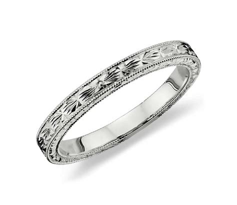Wedding Rings Engraved by Engraved Wedding Ring In Platinum Blue Nile