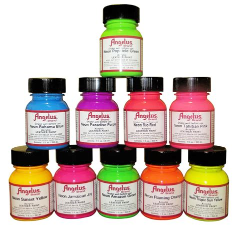 angelus paint neon angelus neon acrylic leather paint 1 oz ca725