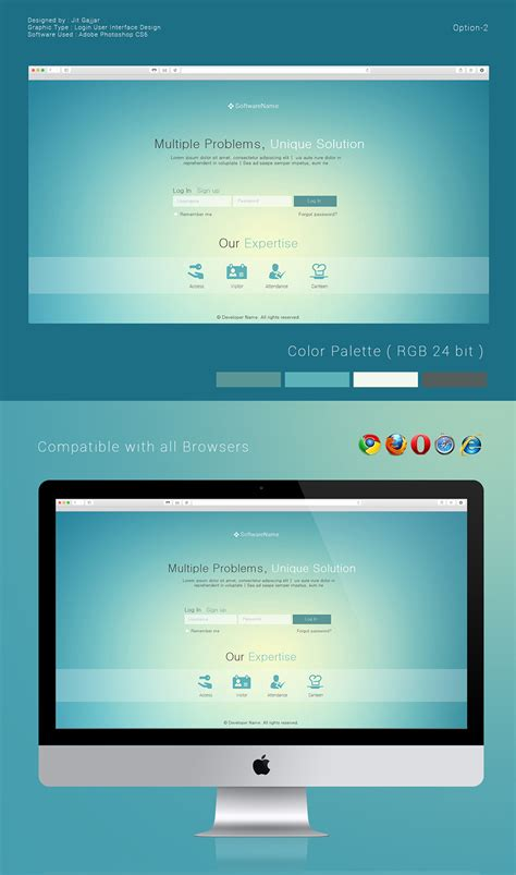 behance login login user interface design options on behance