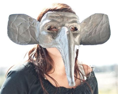 How To Make A Paper Mache Nose - this elephant mask has a paper mache base i widened the