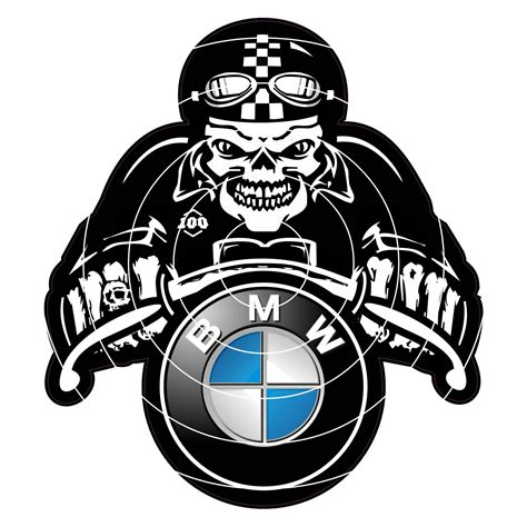 Bmw Perfect Sticker by Bmw Skull Cafe Racer Sticker Ipoppin Shop