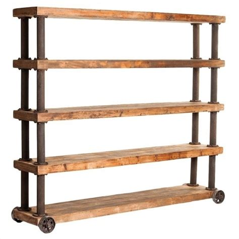 Large Wooden Shelf by Moe S Marino Large Wooden Open Display Shelf In