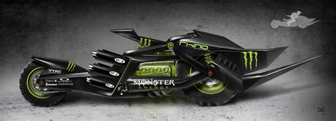 Monster Energy Motorrad by Chris Armstrong Product Concept Jousting Motorcycle