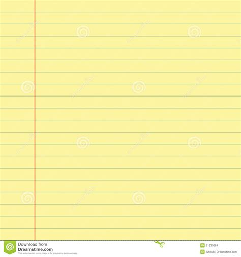 printable yellow lined paper yellow lined paper stock photo image 51330664