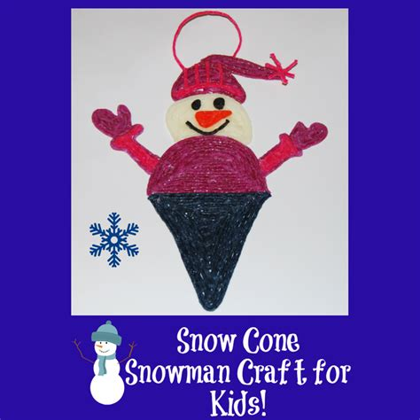 snow craft for snow cone snowman craft for wikki stix