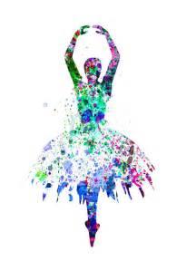Next Duvet Covers Ballerina Dancing Watercolor 4 Painting By Naxart Studio