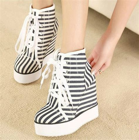 Sepatu Wedges Retro Style 1000 images about canvas sneakers on high
