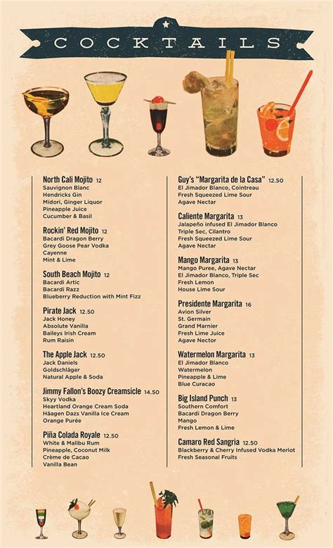 cocktail drinks menu cocktail menus google search menu designs pinterest