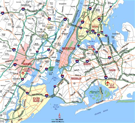 map of ny map of new york city free printable maps