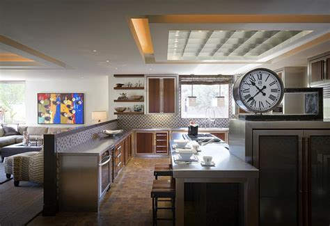 modern desert home contemporary kitchen orange