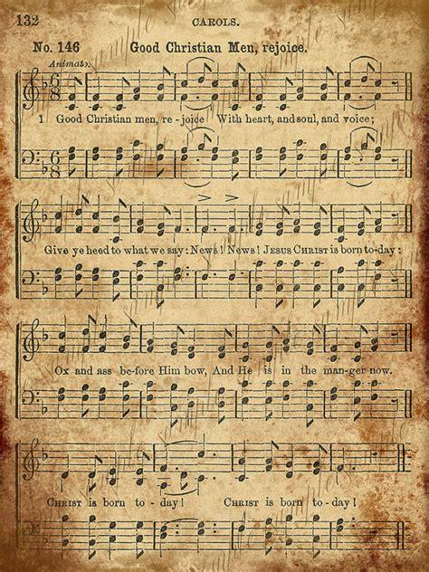printable vintage christmas sheet music 9 best images of vintage sheet music printable free