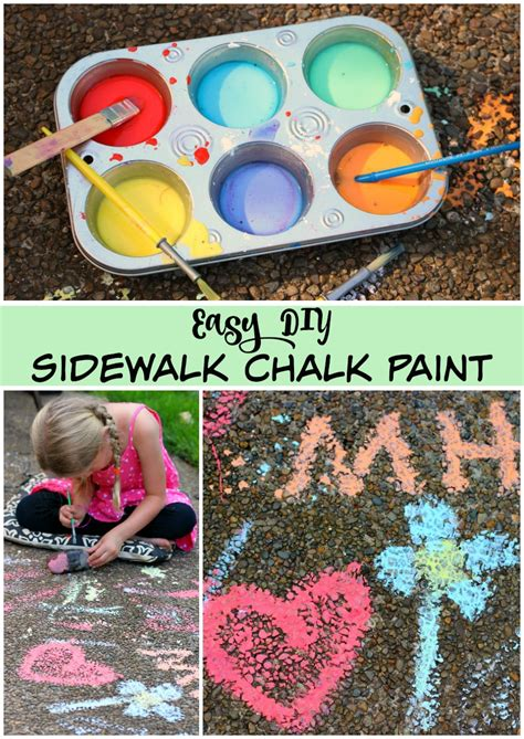 diy sidewalk chalk paint recipe diy sidewalk chalk paint for end of summer make and takes