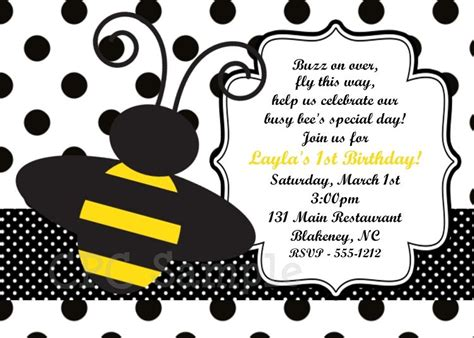 Free Free Template Bumble Bee Birthday Party Invitations Free Online Invitation Templates Bumble Bee Invitation Template Free