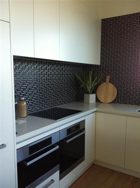 splashback tiles black l mosaic tiles for a kitchen splashback for the