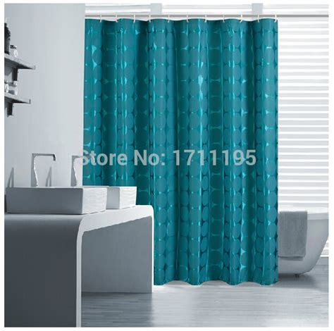 teal fabric shower curtain eforcurtain waterproof shower curtain solid heavy duty