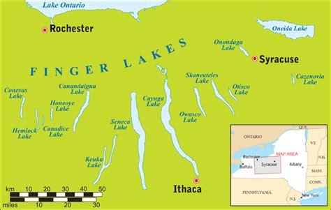 finger lakes ny map finger lakes directions maps distances and how to get