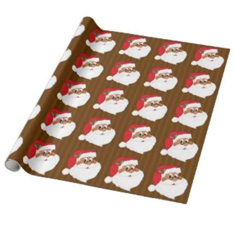 african american santa claus christmas gift wrapping paper