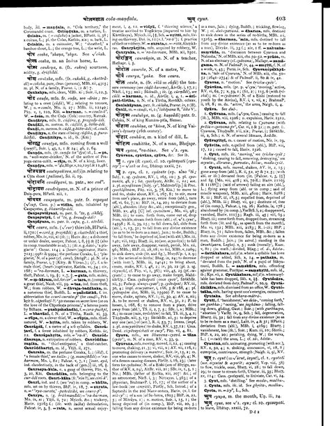 dictionary section monier williams sanskrit english dictionary page 0436