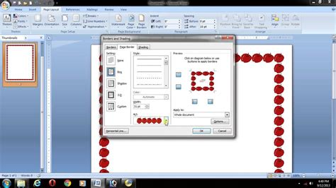 how to layout microsoft word ms office 2007 in telugu word page layout page border