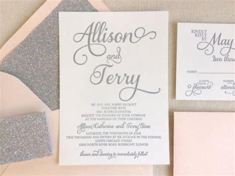 pink white and silver wedding invitations the stargazer suite modern letterpress wedding invitation suite silver glitter blush pink