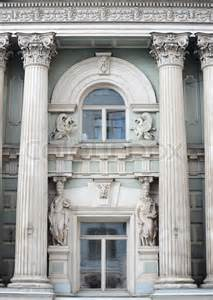 Pillars Decoration In Homes roman greek architecture design in window of a building