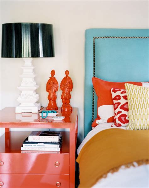coral colored throws coral colored throw bedroom eclectic with turquoise rustic